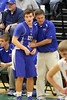 Danville's Kolton Jackson (#30) and Head Coach Ken Laffoon