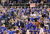 The Danville crowd reacts to winning the game and going to State.