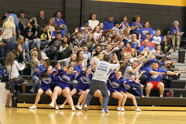 The Danville student section getting rowdy led by Bob Sanchez.