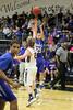 Danville's Bryce Carr (#25) and Notre Dame's Matt Meeker (#2)