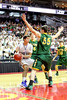 Danville's Dillon Sanchez (#21) and St. Albert's Travis Miller (#15) and Matt Fagan (#55)