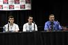 Danville's Kolton Jackson (#30), Kole Perkins (#2), and Danville's Head Coach Ken Laffoon