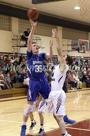 Danville's Kaleb Haeffner (35) and IMS' Cole Yoder (44)