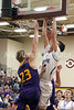 Danville's Kole Perkins (2) and Keota's Jacob Wickenkamp (23)