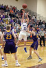 Danville's Max Wilcox (13) and Keota's Jacob Wickenkamp (23) and Hunter Wilson (12)