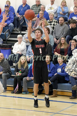 Winfield-Mt. Union's Brock Fricke (1) attempts a 3-pointer against Danville Thursday, February 16, 2017 in the Class 1A, District 10 quarterfinal at Danville.<br /> Photo by Donald K. Aliprandi