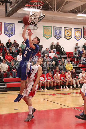 Danville's Connor Hogberg (#2) and Cardinal's Jonathan Pederson (#42)