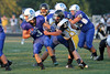 Danville's Wade Samples (#3), Drake Fox (#65), JD Stirn (#52) and Central Lee's Jared Brisby (#11)