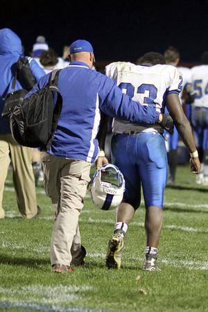 Danville's Assistant Coach Josh Schuff and Rayshawn Baylark (#23)