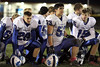 Danville's Blayne Bell (#20), Zach Morgan (#53), and Dillon Sanchez (#15)