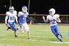 Danville's Dillon Sanchez (#15), Bryce Carr (#12) and BGM's Dalton Jack (#17)