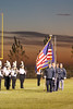 The Color Guard presenting the flag.