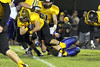 Lone Tree's Jared Hudson (#30) and Danville's Zach Morgan (#53)