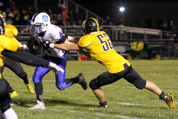 Danville's Sawyer Foster (#4) and Lone Tree's Casey Shalla (#52)