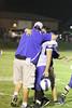 Danville's Zach Morgan (#53) hugs the Assistant Coach