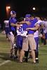Danville's Zach Morgan (#53) embracing Head Coach John Stirn
