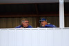 Danville's Dave Beck and Greg Lorber talking in the press box.