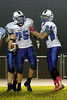 Danville's Gage Jarrett (#75) and Bryton Rice (#84)