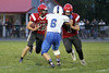 Winfield-Mt. Union's Bryce Robison (#22) and Danville's Grant Samples (#6)