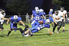 Danville's Zach Morgan (#53), Coleton Masterson (#25), Nick Fencl (#12) and Van Buren's Braxton Bainbridge (#56) and Dakota LaRue (#72)