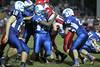 Danville's Connor Hoelzen (#18), Rayshawn Baylark (#23), Coleton Masterson (#25) and Winfield Mt. Union's Bryce Robison (#22)