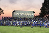 A sea of Danville blue against a beautiful sunset (and the new press box)