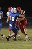 Danville's Connor Hoelzen (#18) and Winfield Mt. Union's Thayne McElhinney (#23)