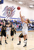 Danville's Emily Cameron (#32), Carlee Kelly (#2) and Central Lee's Hayley Edwards (#33), Josey Kirchner (#23) and Kelsey Bryant (#45)