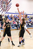 Danville's Carlee Kelly (#2) and Central Lee's Hayley Edwards (#33) and Britany Mathison (#31)