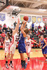 Danville's Allie Boyer (#23), Carlee Kelly (#3) and Cardinal's Danae Moses (#10), Lexi Fullenkamp (#20) and Jessie McElderry (#24)