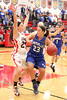 Danville's Allie Boyer (#23) and Cardinal's Lexi Fullenkamp (#20)