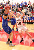 Danville's Gabbie Grothe (#1) and Cardinal's Delaney Ridgway (#30)