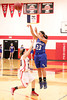 Danville's Allie Boyer (#23) and Cardinal's Danae Moses (#10)