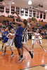 Danville's Carlee Kelly (#3) and Fairfield's Karley Williams (#10), Hanna Greiner (#34) and Sami Fritz (#32)