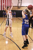 Danville's Madonna Stuflick (#35) and Fairfield's Taylor Ferrel (#4)