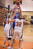 Danville's Gabbie Grothe (#1) and Fairfield's McKenna Ledger (#24) and Sami Fritz (#32)