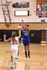 Danville's Allie Boyer (#23) and Fairfield's Mackenzie Flattery (#20)