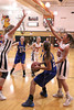Danville's Allie Boyer (#23), Emily Cameron (#33) and Fairfield's McKenna Ledger (#24), Kylie Kurtz (#2) and Mackenzie Flattery (#20)