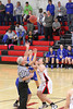 Danville's Gabbie Grothe (#1), Allie Boyer (#23) and Harmony's Leah Vance (#52)