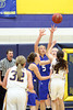 #32 Taylor Hickey, #23 Allie Boyer, #5 Carlee Kelly, #42 Emily Salvadore, #14 Courtney Coffin