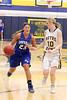 Danville's Allie Boyer (#23) and Notre Dame's Kori Mesecher (#10)