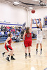 Danville's Gabbie Grothe (#0) and Harmony's Sydney Marsh (#25) and Amber Vance (#51)
