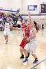 Danville's Kinsey Petersen (#20) and Harmony's Michelle Lunsford (#15)