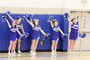 Danville's cheerleaders: Kaleigh Prior, Kelsey Chase, Ashley Gorell, MaKaylee Rhodes, and Katy Roby