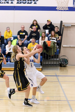 Danville's Grace Grothe (#1) and Lone Tree's Maryssa Grover (#12)
