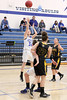 Danville's Emily Cameron (#32), Allison Becker (#12) and New London's Addie Lounsbury (#23) and Victoria Noel (#21)