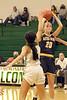 West Burlington's Annaka Harris (2) and Notre Dame's Katy Stephens (20)