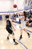 Danville's Emily Cameron (#32) and West Burlington's Catherine Todd (#41)