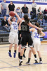 Danville's Kinsey Petersen (#20), Emily Cameron (#32) and West Burlington's Mickenzie Larpenter (#33)