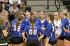 Danville's coach, TJ Duncan, center, gives words of encouragement to his team during the Class 2A Region 8 Quarterfinal in Mediapolis October 24, 2016.<br /> Photo by Donald K. Aliprandi